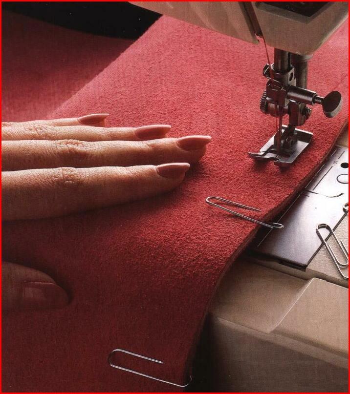 Сшить вязаные детали на швейной машинке 14