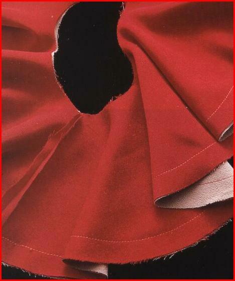 Лавровый лист вшить в шелковую ткань